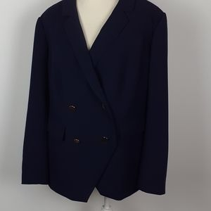 Loth plus 18 nwt Navy double-breasted Blazer